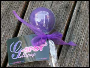 the gspot lollipop wrapped up like a sweet but very adult treat